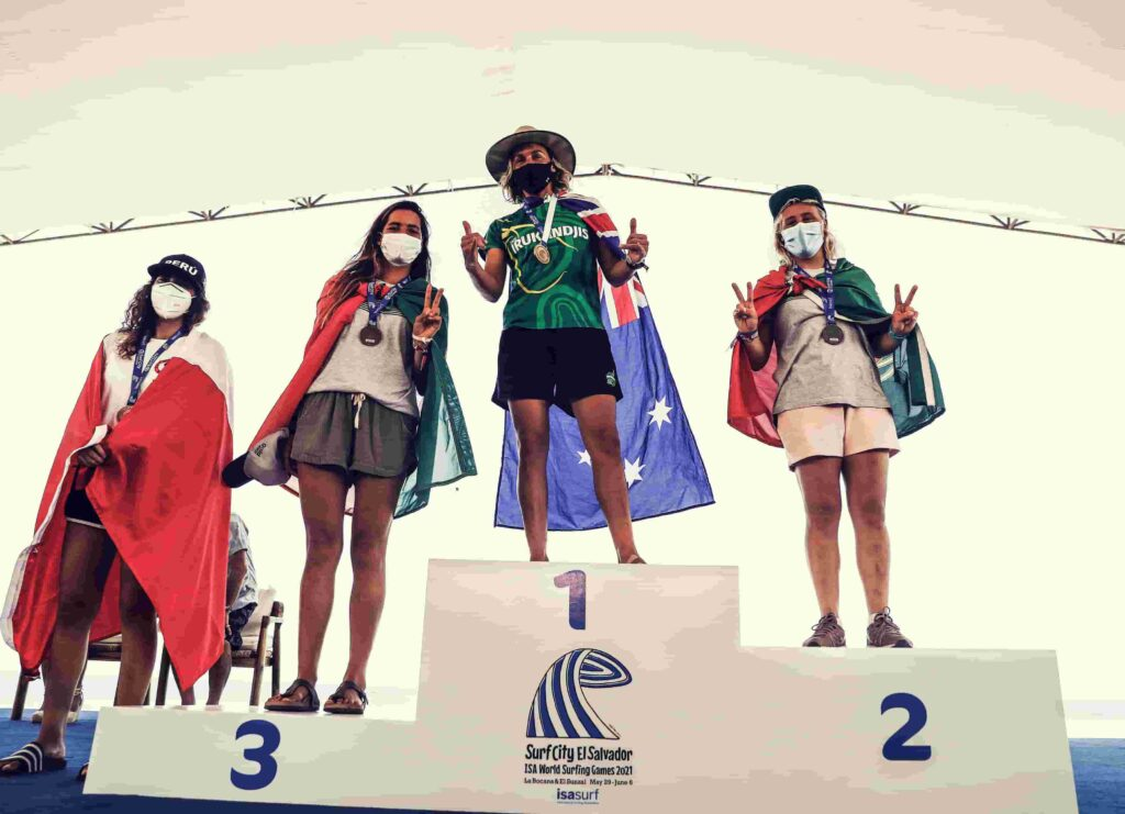 Tokyo Olympics classified surfers (women)